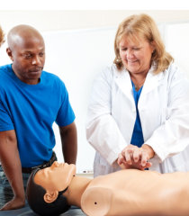doctor demonstrating cpr
